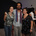 Cristina Castillo, Rolando Santos and Sascha Cushner at the Young Patrons Science Fair in the 1 Hotel