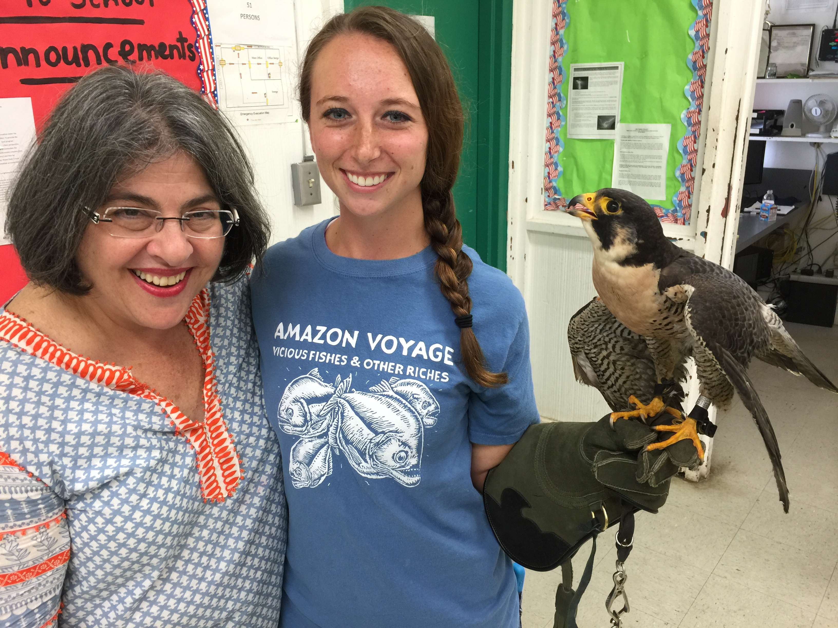 Commissioner Levine Cava meets falcon