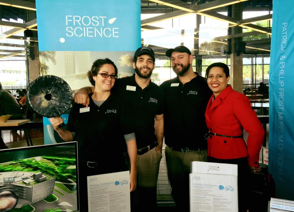 Dr. Ava Rosales, Executive Director of Science for Miami-Dade County Public Schools, visits the Frost Science programming activation at the STEM-Expo event on Saturday.