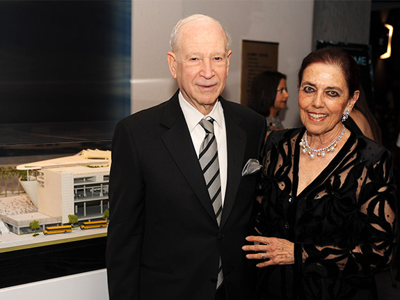 Dr. Phillip Frost and Patricia Frost smile together at the museum Gala.