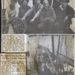 Original newspaper clippings on the Adventures Sail.