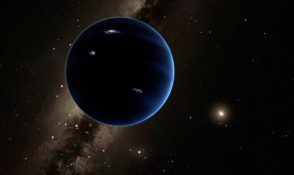 An artist rendition of Planet Nine with the Sun in the background. Scientists suspect that like Uranus and Neptune, Planet Nine is gaseous. CREDIT CALTECH:R. HURT (IPAC)
