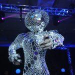Glittery decoration at a gala