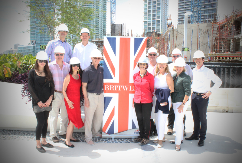 Museum President & CEO (in red shirt) and BritWeek organizers, on a tour of the Museum's construction site.