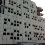 Wall of a building under construction