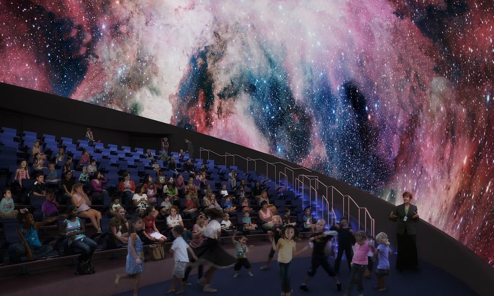 Frost Planetarium interior rendering at Patricia and Phillip Frost Museum of Science