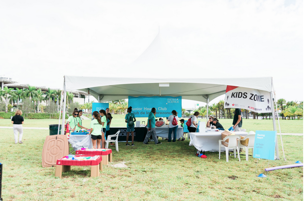 Frost Science tent at Heart Walk 2015