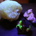 Minerals absorbing light and radiate colors only seen under a black light