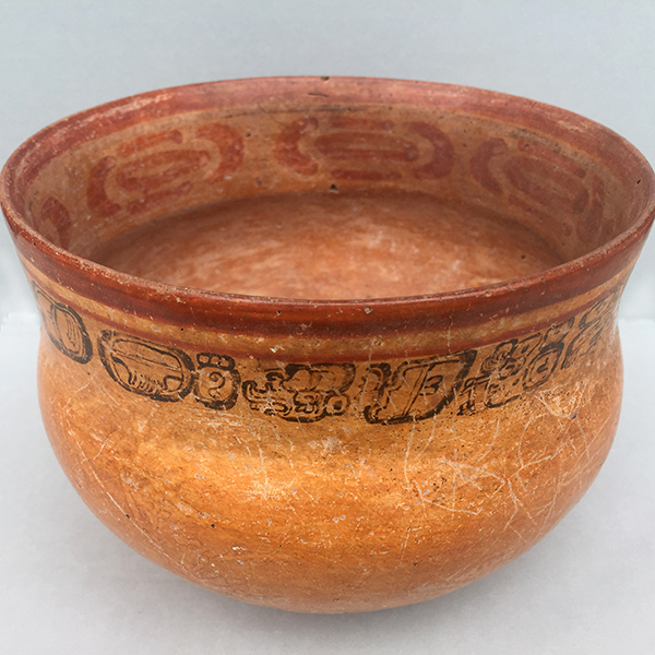 Precolumbian clay pot