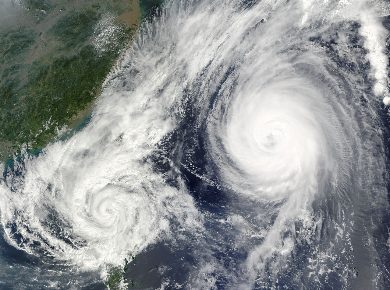 Two hurricanes