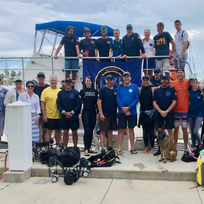 Reef project dive team at Rainbow Reef