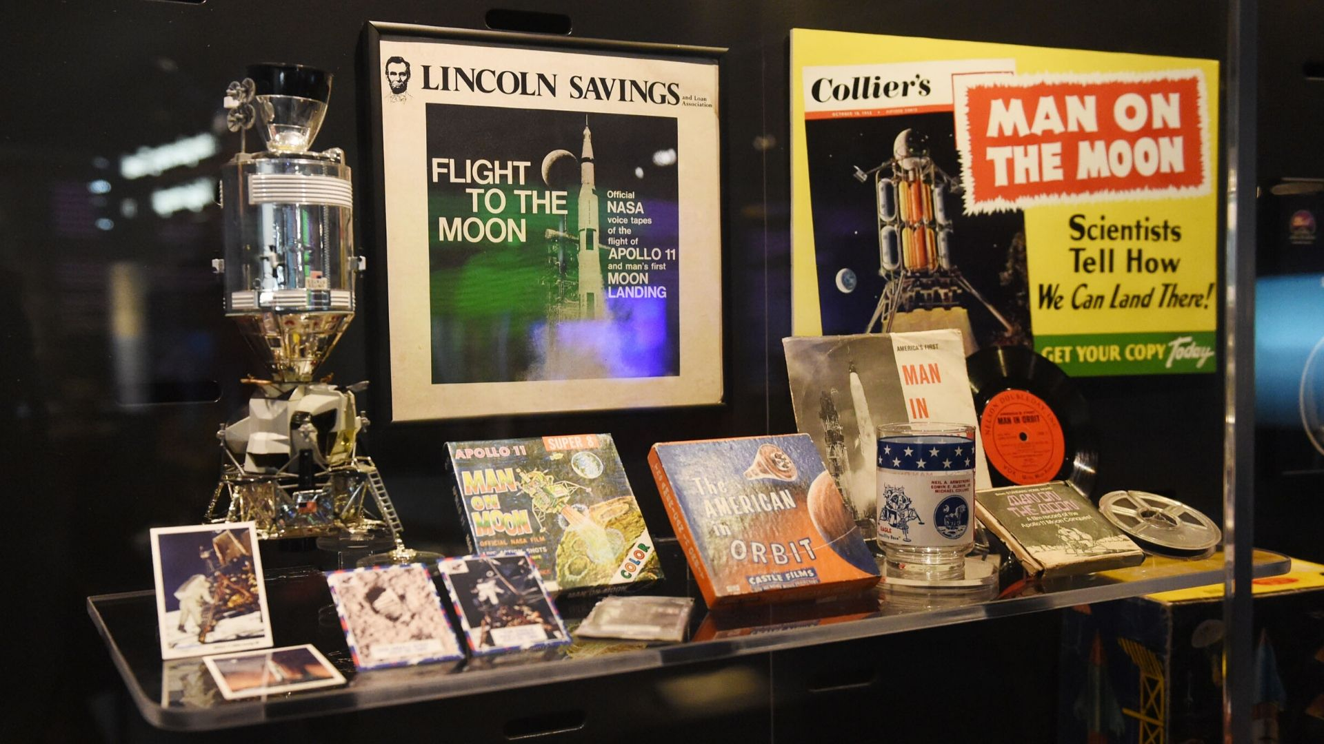 moon travel books and posters