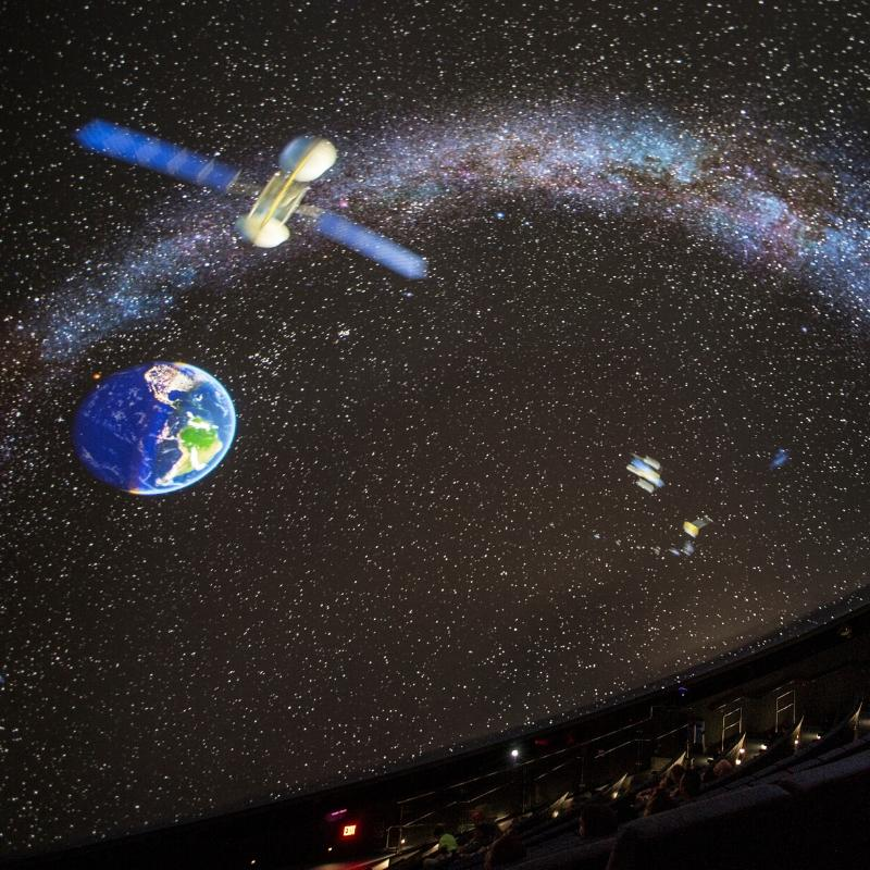 image of space on a screen