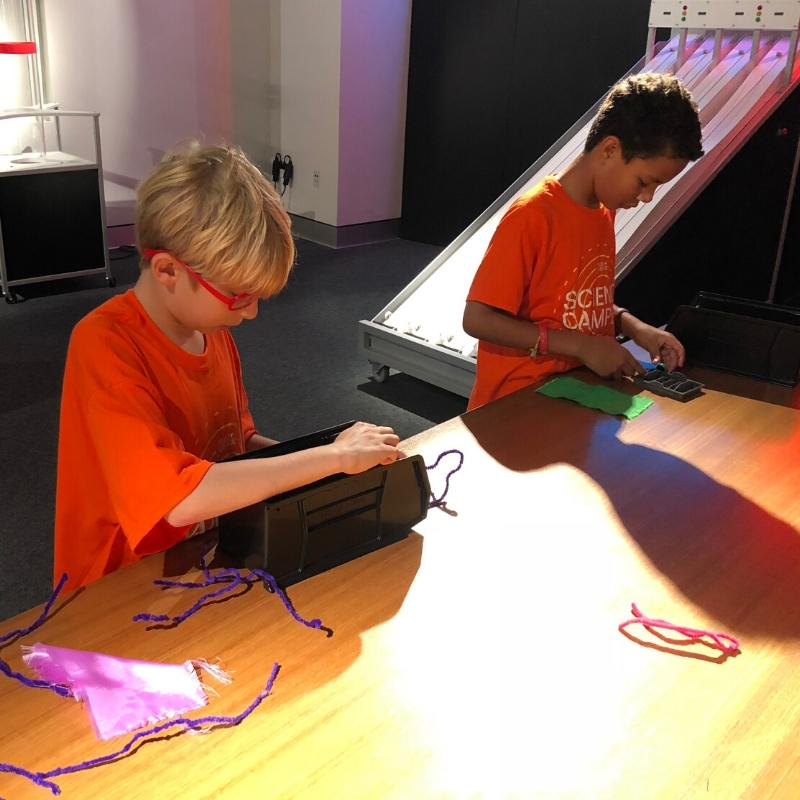 children using materials