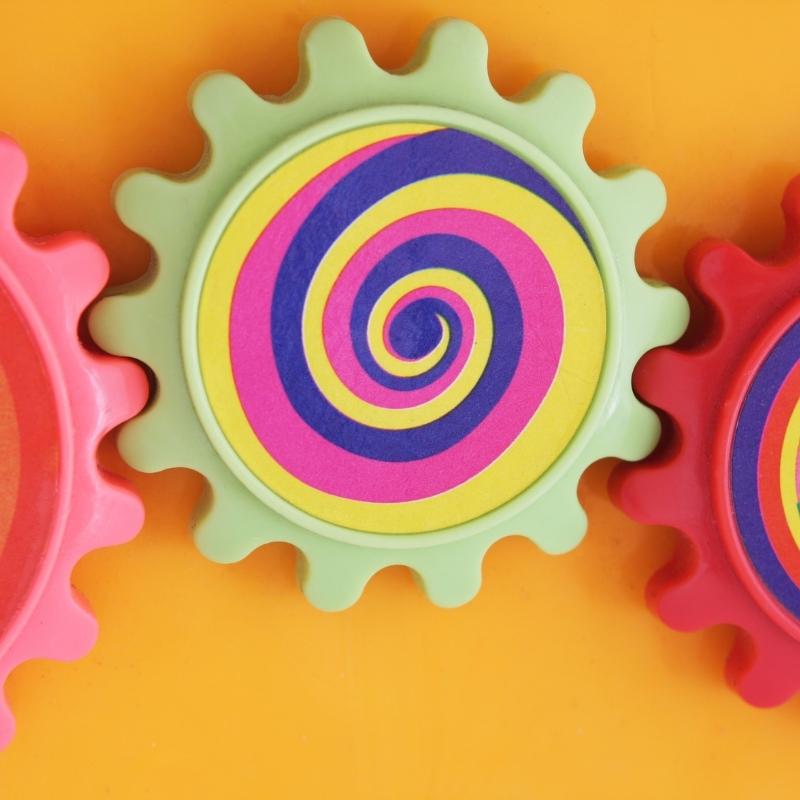 colorful engineering wheels