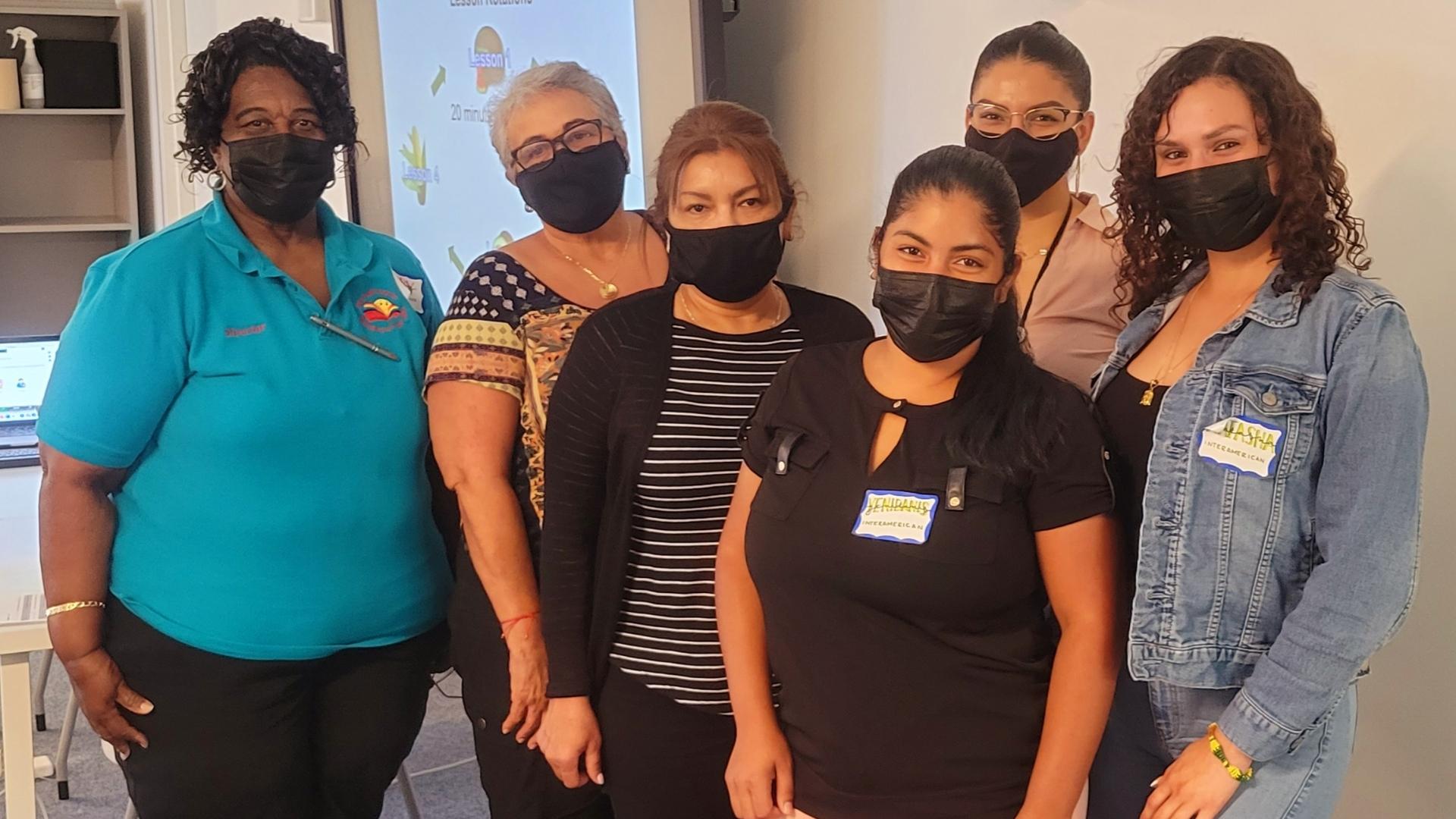 Ladies together at ECHOS workshop