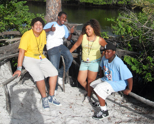Upward Bound Math and Science students on overnight trip.